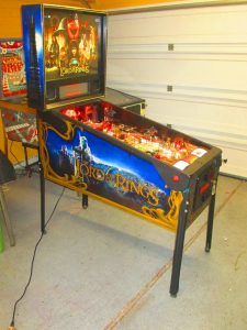 We're putting the finishing touches on a full shop job on this 2003 Stern Lord of the Rings. We pulled everything off the playfield, to be washed, polished, tumbled, buffed, or otherwise cleaned. We buffed the playfield and installed LEDs throughout. This game looks great!
