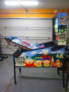 We're nearly finished with a full shop job on this 1999 Sega South Park pinball machine. We pulled everything off the playfield, to be polished, washed, tumbled, buffed, or otherwise cleaned. We installed LEDs throughout and added a few custom touches. This game is looking great, and it's FOR SALE!