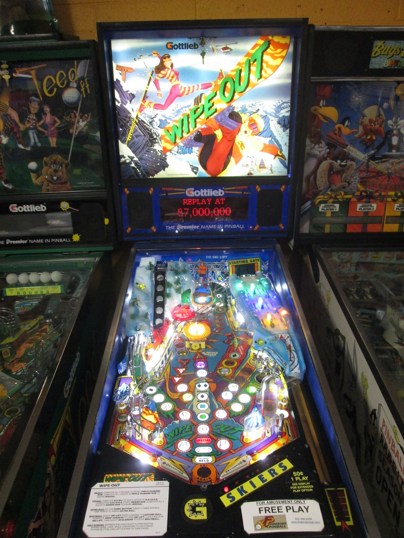 wipeout pinball machine for sale