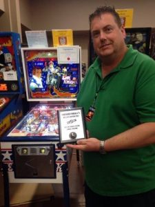 The second of our judged awards went to Robert Whipp, and this Evel Knievel machine he spent an amazing amout of time restoring. His hard work truly showed, and the judges and fans alike were impressed with this game.