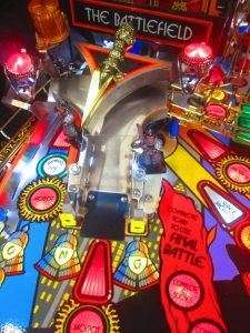 Toys like the diverter-driven ramps make this game a favorite among pinball pros and novices alike.