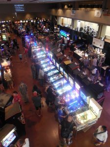 There were more than 330 games at ZapCon this year, including this gorgeous row of pinball machines. We took more than 15 games down ourselves.