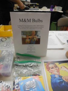 We even set up a little spot for our boys' business, M&M Bulbs. They made two sales!