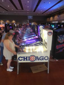 Our restored Chicago Cubs Triple Play pinball machine drew raves. The boss clearcoated the playfield just in time for ZapCon. This game is still for sale, btw, folks!