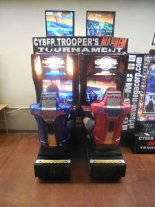 There were an amazing number of tournaments all weekend, too, and folks flocked to different parts of the convention center all weekend to play. Here's the Cyber Troopers set up. Folks loved this game!