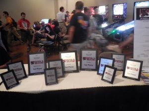 There were official pinball tournaments in the back of the hall, an area packed to capacity all weekend.