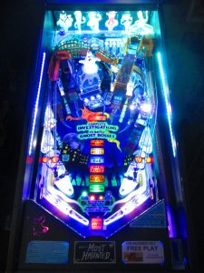This game, from Spooky Pinball in Wisconsin, was always cool. But then we added the glow bands, and it looked even better!