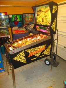 This game also features what seems like the most balls ever, with an automatic multiball to start each ball that adds another ball each time.