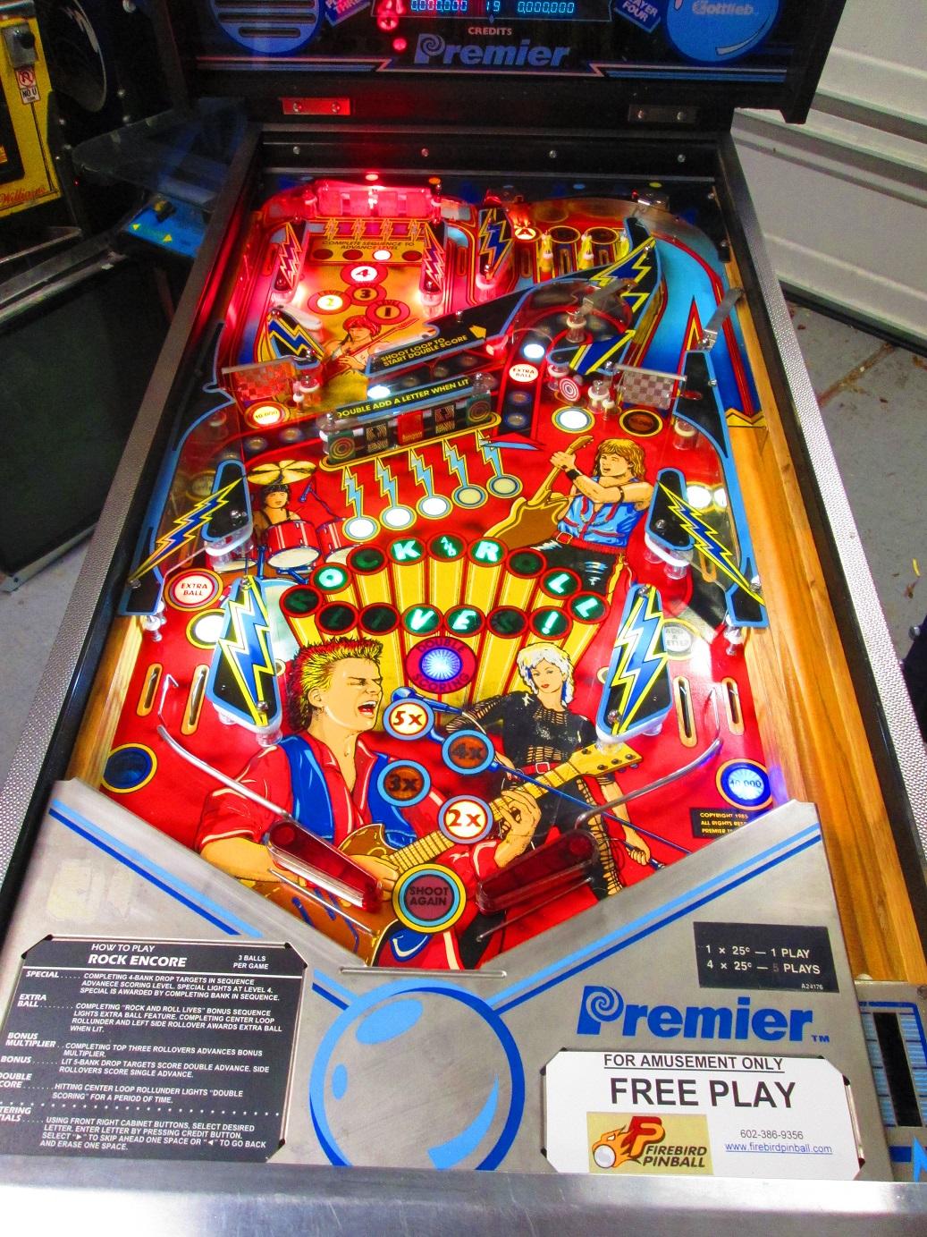 This Game Rocks! | Firebird Pinball - Phoenix Arizona Pinball Repair